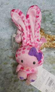 2012年 日本 Sanrio Hello Kitty 扮 兔子 粉紅色 公仔 一個