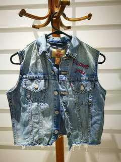 LEVI'S Denim Embroidered Vest Festival