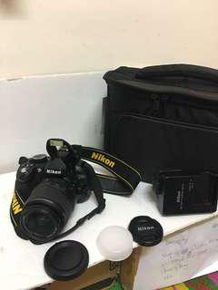 Nikon D3100 withe 18-55mm lens Full HD video recording!!