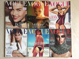 Archival Issues of Vogue Paris (Rare Collectors' condition)