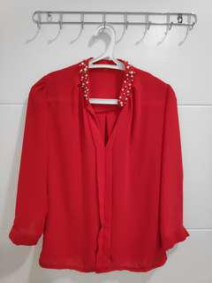 #09004 Work Red Free Size