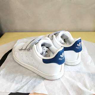 原裝正版 只著一次 98% new Adidas stan smith 小童 波鞋 童裝