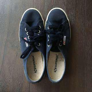 superga navy blue shoes size 37