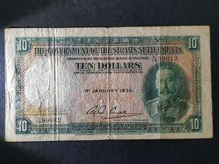 Straits Settlement note