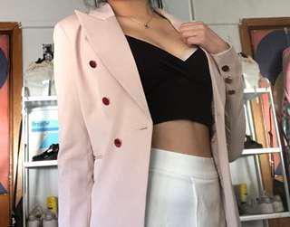 Bardot Stylish Nude Blazer