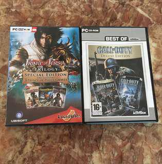 Call of Duty Deluxe Edition & Prince of Persia Trilogy (85% New)