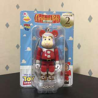Bearbrick 100% Buzz 巴斯光年 Christmas Version 聖誕節 Bear Be@rbrick Toy Figure Art Brand Design Rabbrick R@bbrick Nyabrick Ny@brick 模型 擺設 收藏品 名牌 玩具 禮物 生日禮物