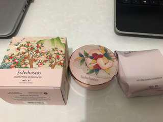BNIB Sulwhasoo Perfecting Cushion Ex No 21 Natural (Pink)