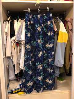 H&M Floral Long Skirt