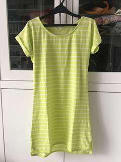 Shirt Dress Neon Green