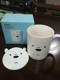 We Bare Bears Mug with free Coaster (Ice Bear)
