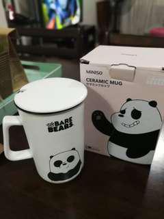 We Bare Bears Mug with Lid (Pan Pan)