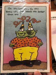 🚚 萬聖節卡片3張