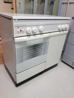 Techno oven with cooker hob