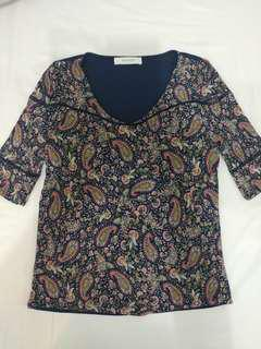 Promod paisley printed top