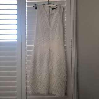 White lace bodycon dress size S