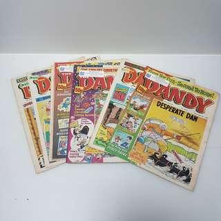 Vintage dandy comic book magazine