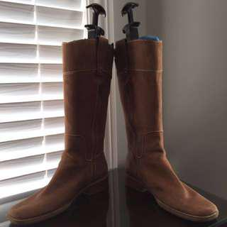 Nine West Leather Boots Size 6.5