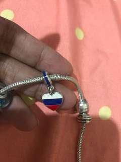 Pandora flag charm Russia