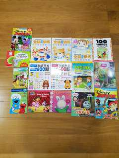 Assorted English Chinese preschool 4 to 5 years ago story assessment  book $2