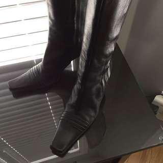 Diego Montefusco Leather Boot Size 36