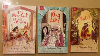 King Lear, The Merchant of Venice, Macbeth - Orchard Classics, Shakespeare Stories for kids Andrew Matthews with illustrations by Tony Ross