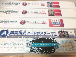 Sword art online kuji posters