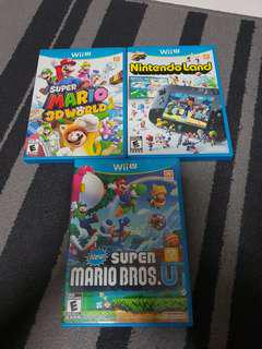 Wii U Super Mario 3d World/ Nintendo Land/ new Super Mario bros