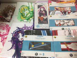 Sword art online SAO kuji towel , handkerchief