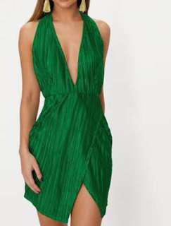 Pretty little thing party dress green