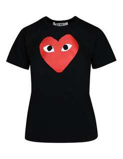 CDG play shirt red heart
