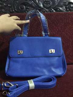 Blue handle bag (new bukan preloved)