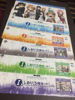 Sword art online SAO kuji bookmark