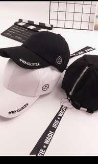 🚚 Black long strap baseball cap