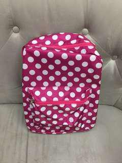 可愛粉紅圓點點輕背包