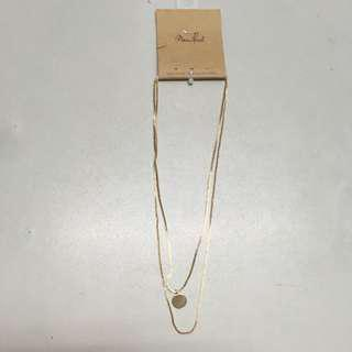 Brandy Melville Golden Double Chain Necklace