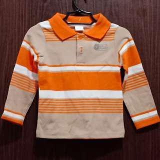 Kids Longsleeved Striped Poloshirt