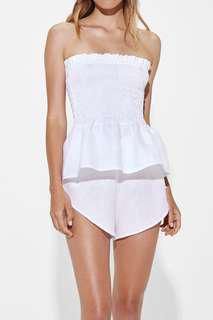 Sir the Label Elsie Strapless Top White Size 1