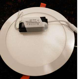 🚚 明冠燈光 開孔20公分LED嵌燈/LED崁燈/LED漢堡燈