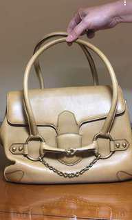 Gold Calfskin GUCCI Bag