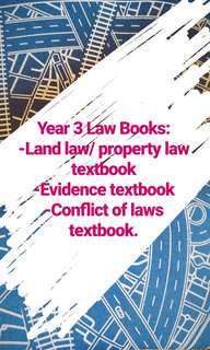 Year 2/3 Law Books