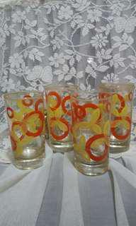 80年代高身玻璃水杯共4隻