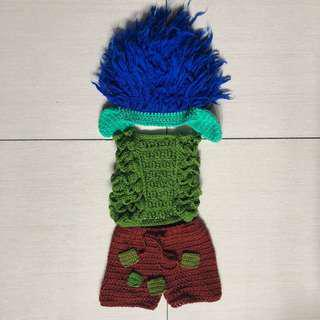 Trolls Branch knitted costume