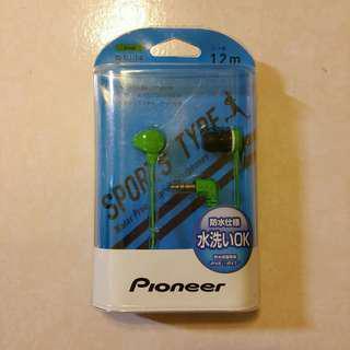Pioneer先鋒繽紛色彩運動防水耳機