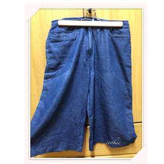 金蔥牛仔寬褲