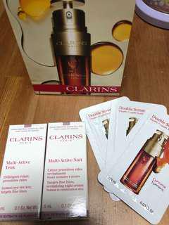 Clarins Double Serum 賦活雙精華 Multi Active eye cream  night cream $30all