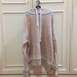 f21 nude-pink hoodie