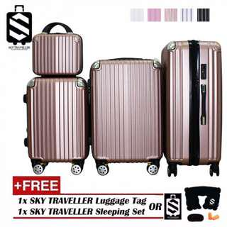 SKY TRAVELLER SKY298 4-In-1 Luxurious Expandable ABS With 8 Wheels Universal Spinner (14Inch+20Inch+24Inch+28Inch)