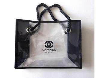 Authentic Chanel VIP Transparent Tote Bag