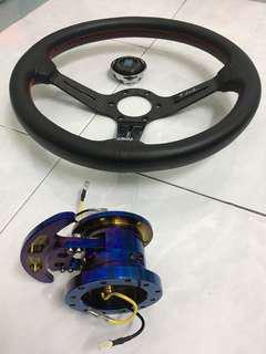 Nardi carbon fiber steering wheel & Works bell rapfix